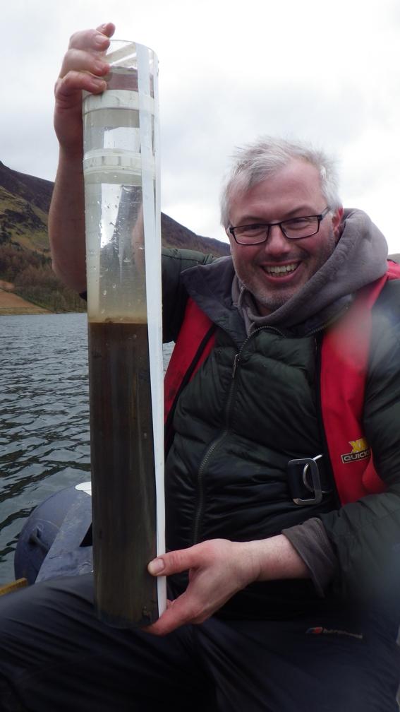 Sampling Storm Desmond sediments at Buttermere